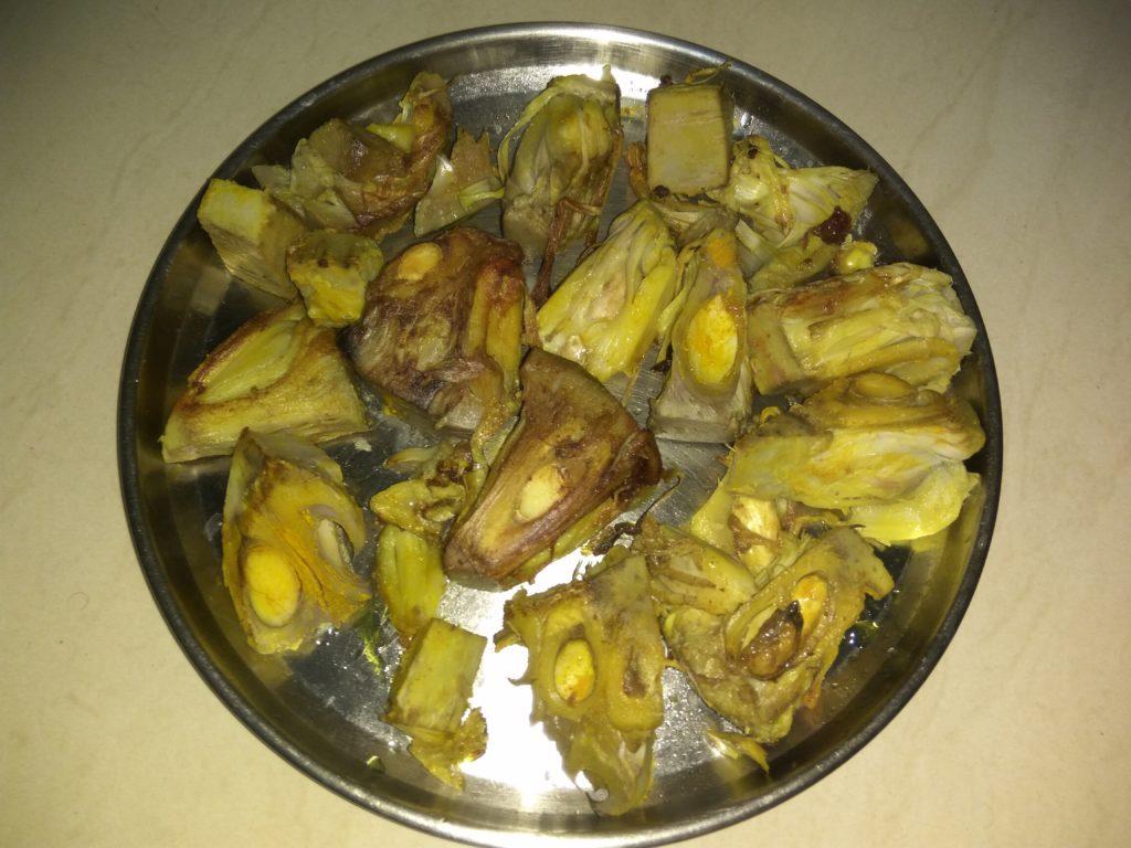 Raw Jackfruit Pieces Fried