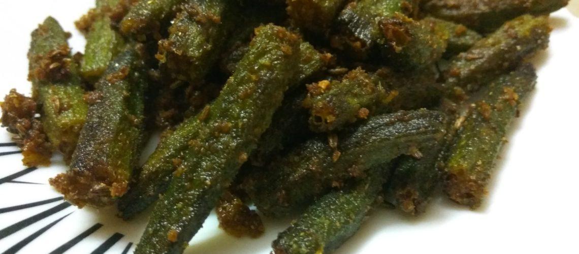 Crispy bhindi masala recipe without onion and garlic magic tadka crispy bhindi masala recipe without onion and garlic forumfinder Images