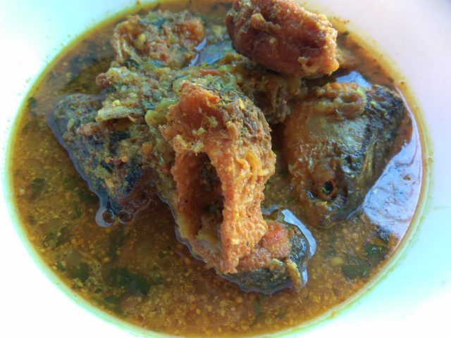 Neni Fish (Mach) Dipped In Mustard Gravy With Pepper And Cumin