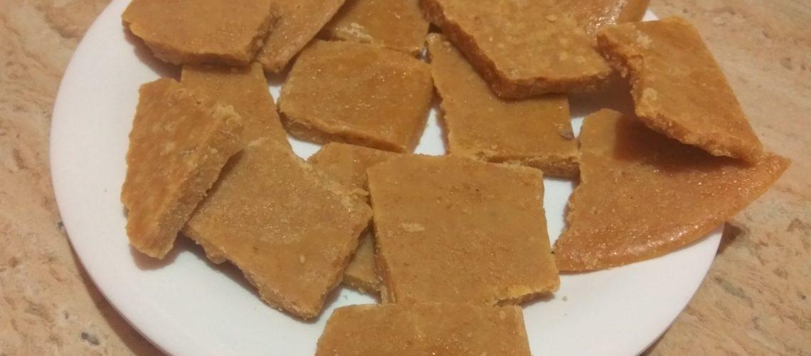 Besan Chikki Indian Sweet Recipe